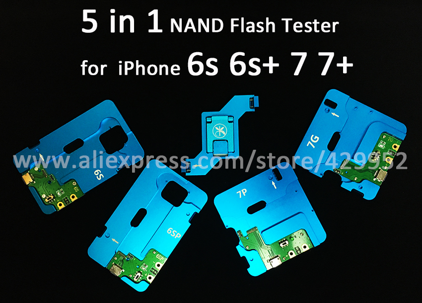 HDD NAND Flash Hard Disk IC Chip Tester Programmer 5 in 1 Tool For iPhone 6S Plus 7G 7Plus Repair