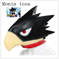 Anime My Hero Academia Boku no Hero Academia Tokoyami Fumikage Cosplay Mask Bird Head Latex Helmet Mask Party Halloween Props