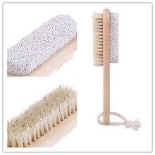 1 шт. деревянная ручка щетина скраб деревянный+ мягкая щетка для ухода за ногами щетка для удаления омертвевшей кожи