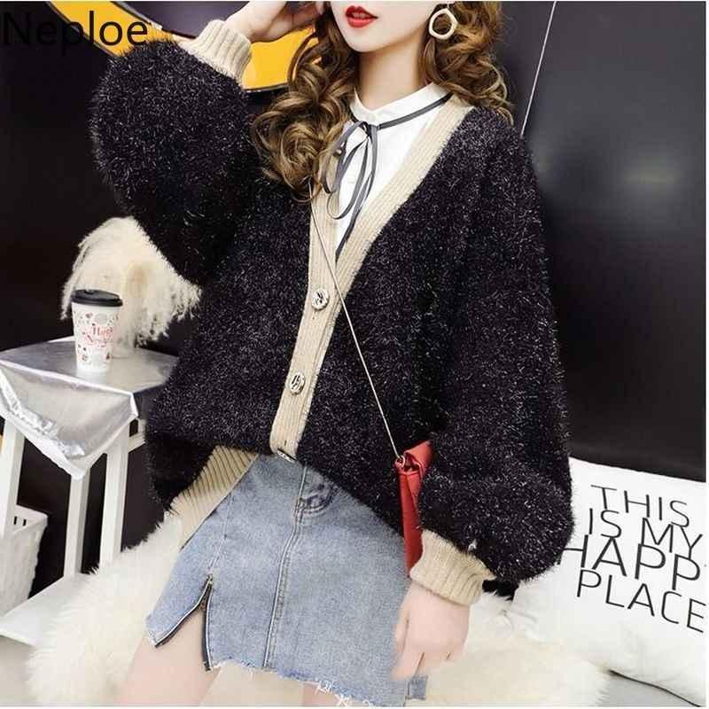Neploe/зимний теплый толстый кардиган в Корейском стиле, свободный женский свитер с длинными рукавами, большие размеры, Pull Femme, осень 2019, Sueter, выше размера d, пальто