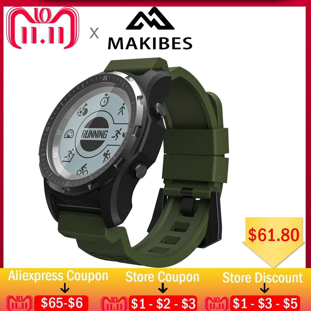 11.11 Pre-Order Makibes BR2 Men GPS S966 Sport Watch Bluetooth HIKING Heart Rate monitor Multi-sport fitness tracker Smart Watch makibes br2 smart watch men gps smartwatches electronic compass heart rate monitor multi sport dynamic optical sports watch