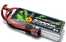 ACE Lipo battery 11.1V 2200mAh 20C 3S High Discharge Gens Battery for 450 RC Helicopter -US Shipping