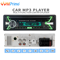 AMPrime 12V Bluetooth Auto Car Radio 1 din Stereo Audio MP3 Player FM Radio Receiver Support Aux Input SD USB MMC Remote Control