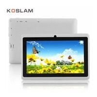 El Más Barato de 7 Pulgadas Tablet PC Quad Core 512 MB RAM 8 GB ROM WIFI Bluetooth Doble Cámara de Play Store 7
