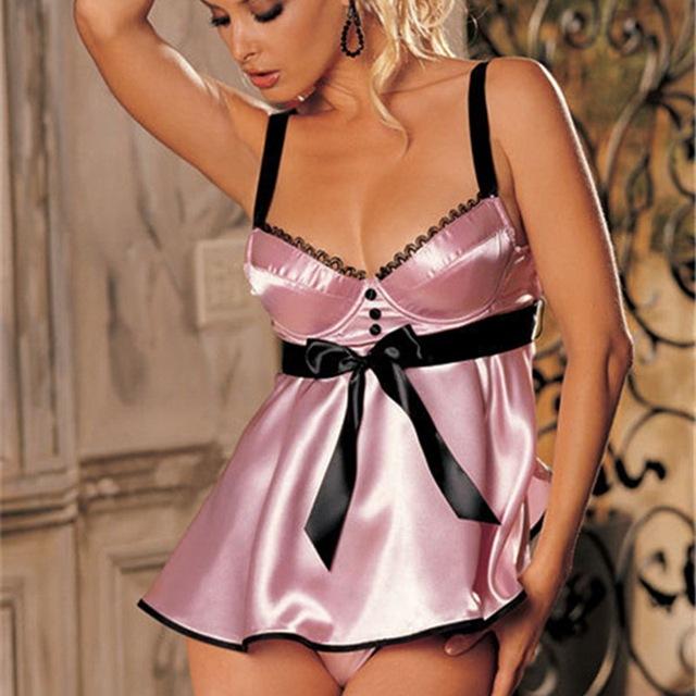 Lingerie Christmas Ladies Summer Silky Sexy Pajamas