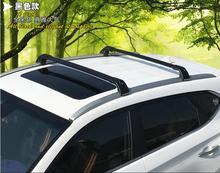 Equipaje equipaje coche Baca De Aluminio Rail Travesaño Para Mitsubishi ASX 2013 2014 2015 2016 (con Cerradura) (plata negro)