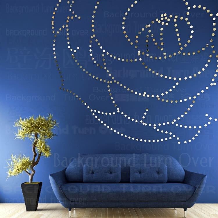 DIY rose fleur acrylique miroir stickers muraux canapé fond chambre salon décoration fille chambre 3d decal stickers art R093