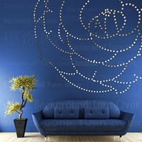 DIY rose flower acrylic mirror wall stickers sofa background bedroom living room decoration girl room 3d decal stickers art R093