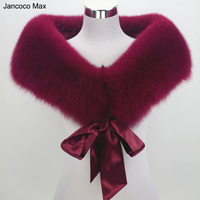 Jancoco Max S1530 Female Real fox fur Stole Women Winter Warm Shawl High quality Wholesale/ Retail
