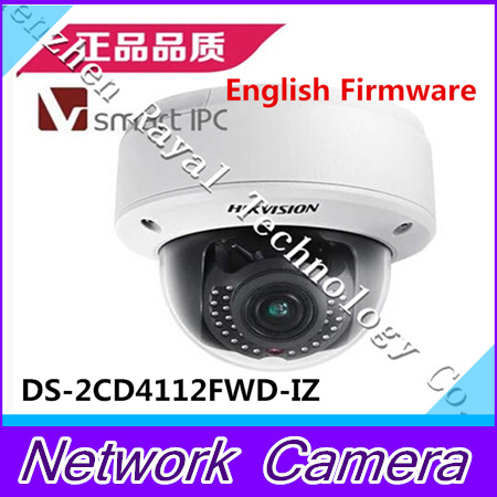 English 1.3MP WDR Dome Camera,Smart Codec&IR&VQD,Smart Face&Audio Detection,Motorized VF Lens,DS-2CD4112FWD-IZ free shipping multi langauge version ds 2cd4124f iz 2mp ir dome motorize smart ipc support face detection with sd card slot