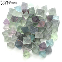 230g Beautiful Blue And Green Fluorite Octahedron Crystals Stones Healing Stones Craft For Aquarium Fish Tank