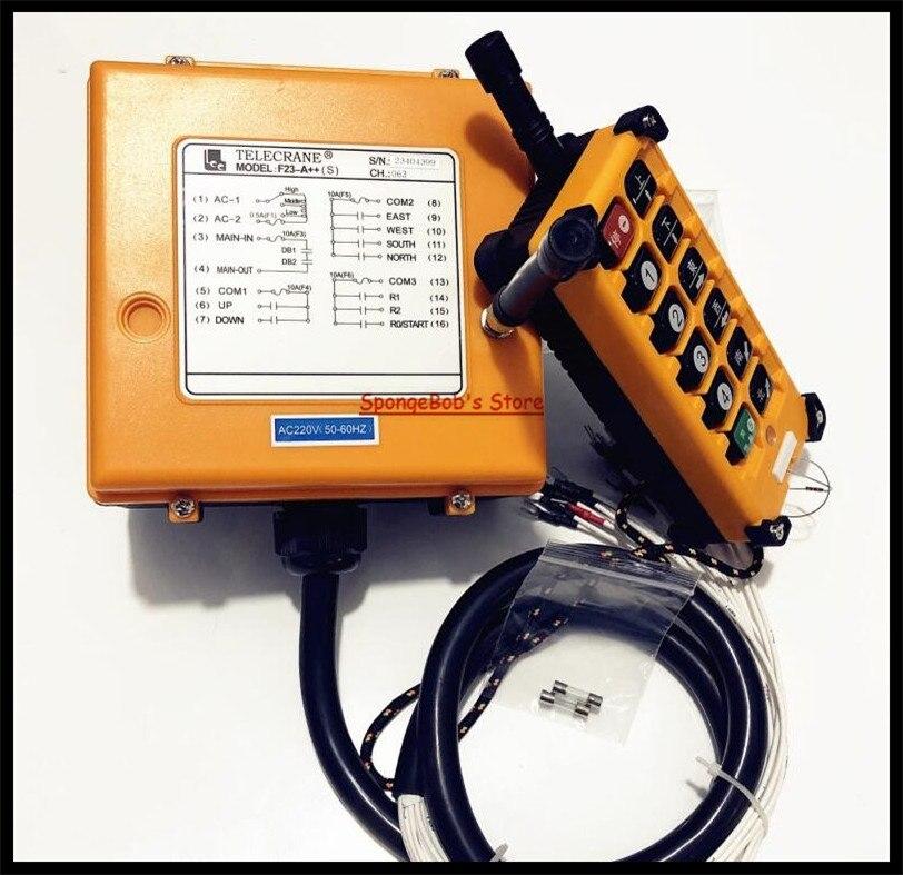 F23 A DC24V AC36V AC220V AC380V Industrial Radio Remote Control Hoist Crane Control Lift Crane 1x