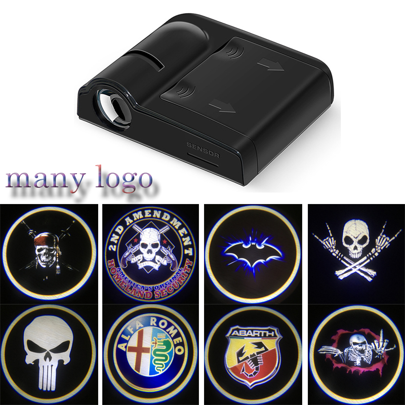 1PCS Universal Wireless Car Door Welcome Logo Light Projector LED Laser Lamp For BMW E46 E90 E39 E60 For Ford Focus 2 Chevrolet