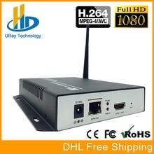 HDMI de Vídeo Para H.264 Codificador Codificador de TV a Cabo De Áudio E Vídeo Digital Transmissor de Vídeo wi-fi HD WiFi Suporte HTTP UDP RTMP RTSP ONVIF