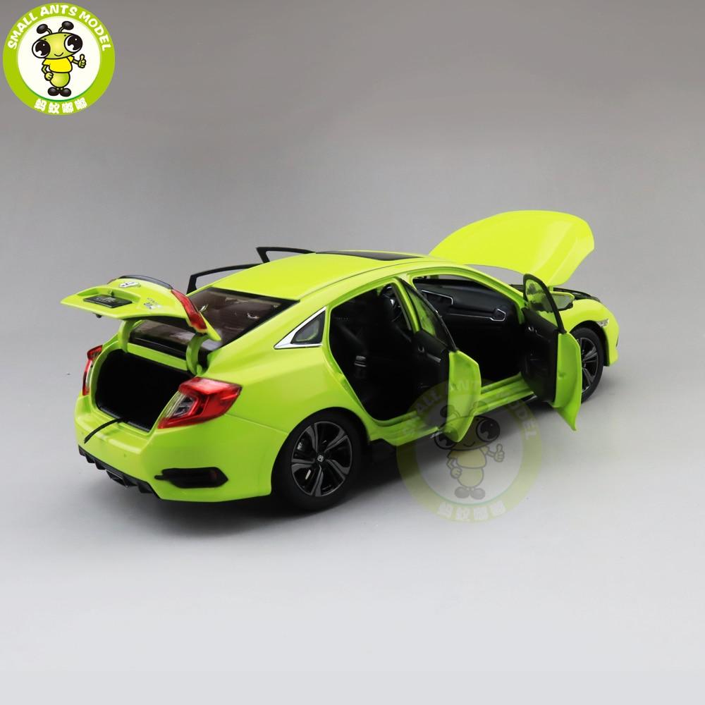 1//18 Honda CIVIC 2019 Diecast Metal Car Model Toys Boy Girl Gift Green