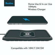 Bestins 10W Qi Fast Wireless Charger Silicone For Xiaomi iPhone Xs 8 X Samsung Intelligent Infrared Sensor Wirless Charging