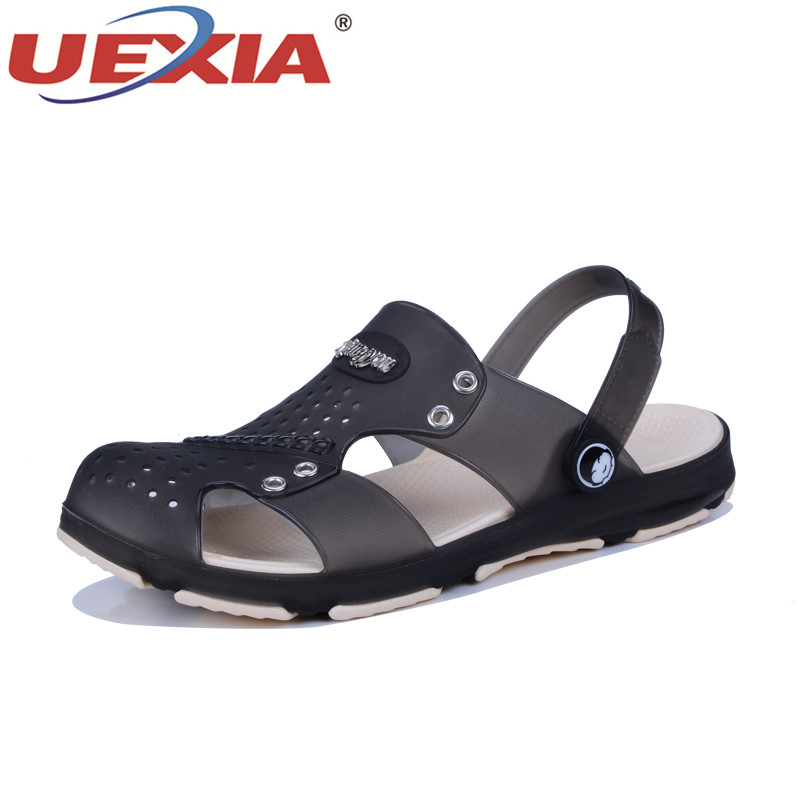 UEXIA Summer Mens Garden Clogs Slippers EVA Casual Fashion Non Slip Sandals For Men Lightly Slipper Mule Clog Hollow Walking