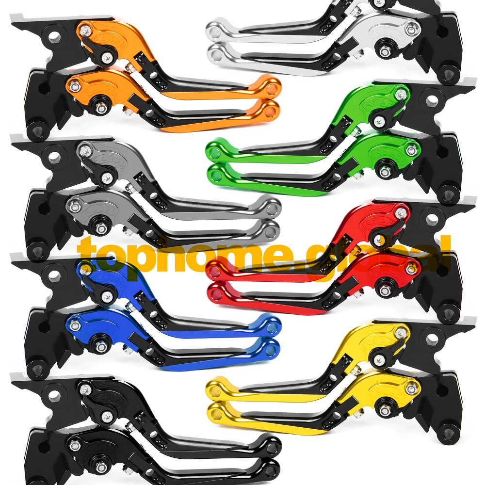 For Kawasaki Z750 2004 2005 2006 Foldable Extendable Brake Levers Folding Extending CNC Adjustable top quality cnc foldable folding fingers wave brake clutch levers for kawasaki ninja 650r er 6f er 6n 2006 2008 red