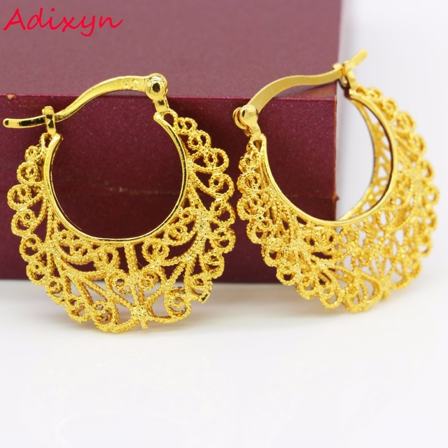 Size Ethiopian Gold Earrings Color African India Women Wedding Earring Jewelry For S