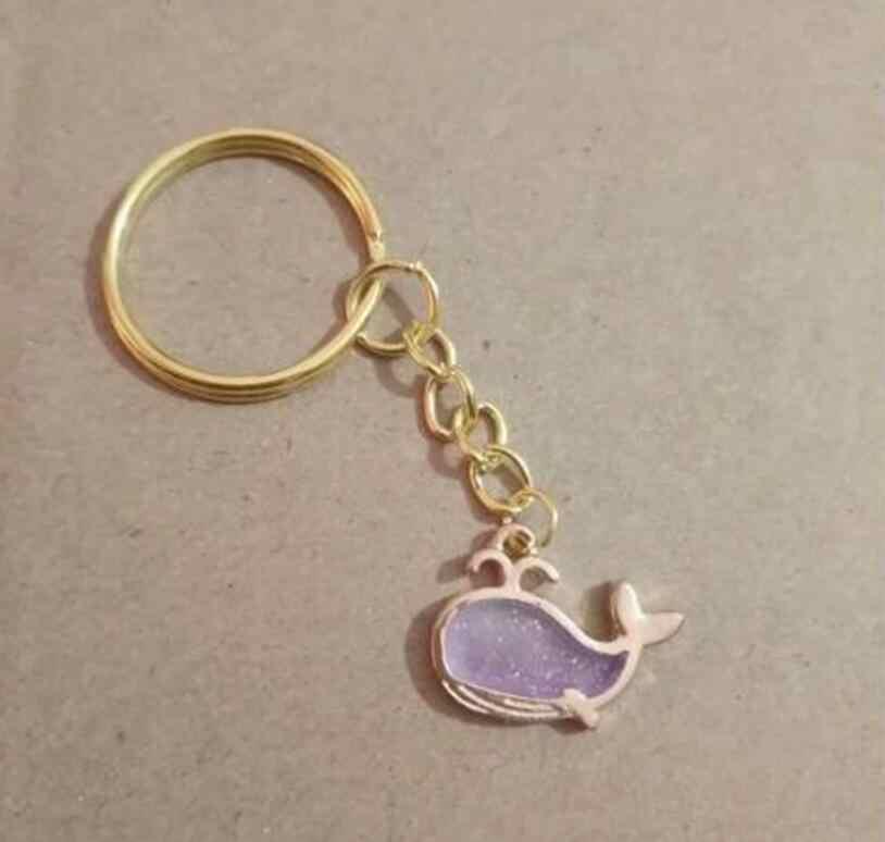 เคลือบสีผสมปลาวาฬ Unicorn พวงกุญแจเมอร์เมดพวงกุญแจสำหรับกระเป๋า Key Charm จี้ Key Key แหวน lucky ของขวัญ