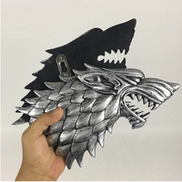 Game of Thrones Resin Figures Animal Wolf Head Statue House Stark Song Of Ice And Fire Statue for Home Wall Desk Decoration Gift