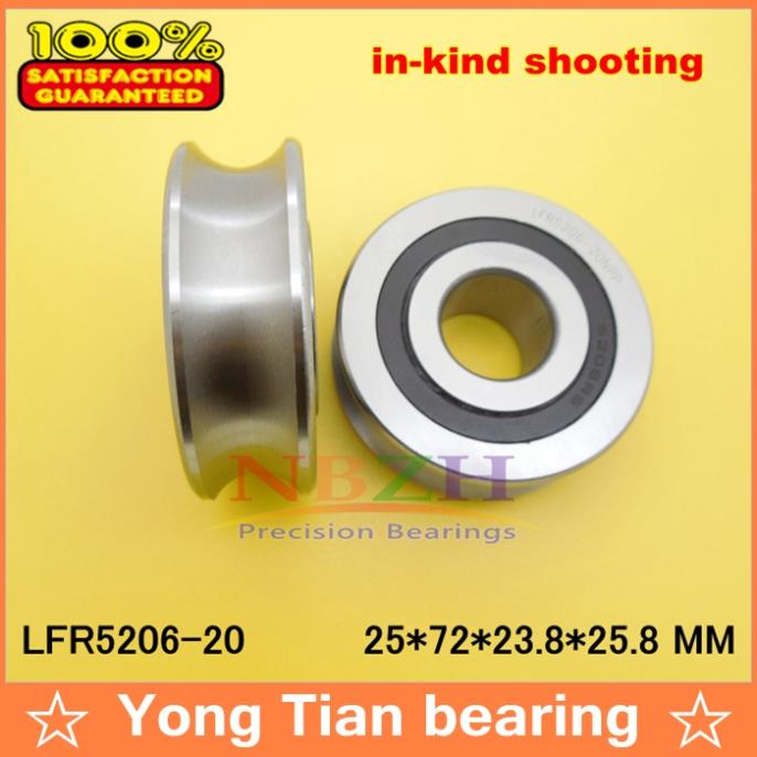 где купить 20 MM track LFR5206-20 NPP LFR5206 KDD R5206-20 2RS Groove Track Roller Bearings 25*72*23.8 mm (Precision double row balls) по лучшей цене