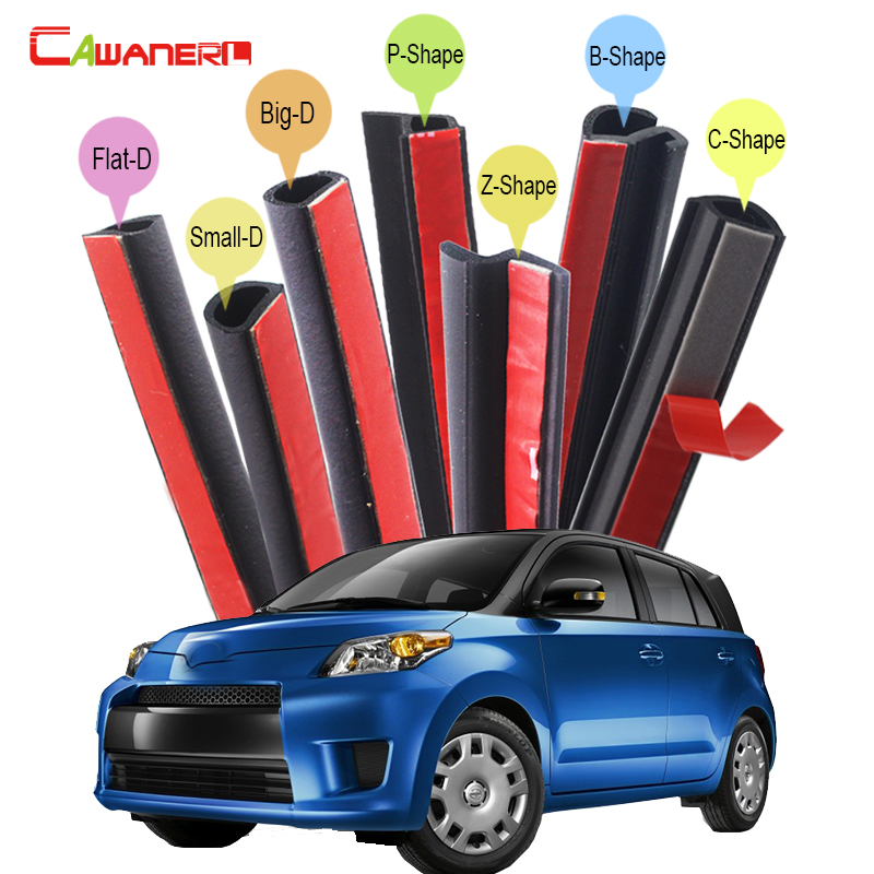 Cawanerl Rubber Car Hood Trunk Door Sealing Strip Kit Weatherstrip Seal Edge Trim Noise Control Self-Adhesive For Scion xB xD цены