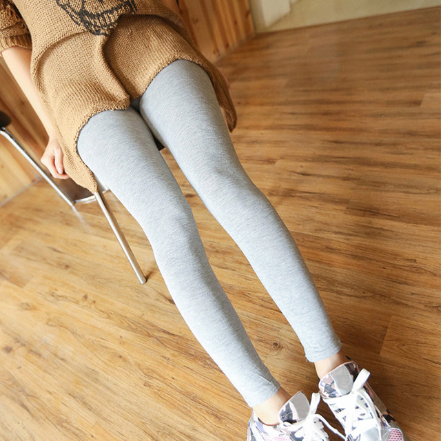 1PC Women Fashion Simple Solid Leggings Women Stretchy Cotton Skinny Leggings Sexy Colorful High Waist Legging Clothes Accessory 15