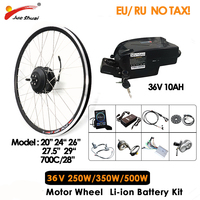 250W 350W Electric Motorcycle Kit with 36V 10Ah Ebike Battery 20 26 700C Hub Motor for Electric Scooter Adult Conversion Kit