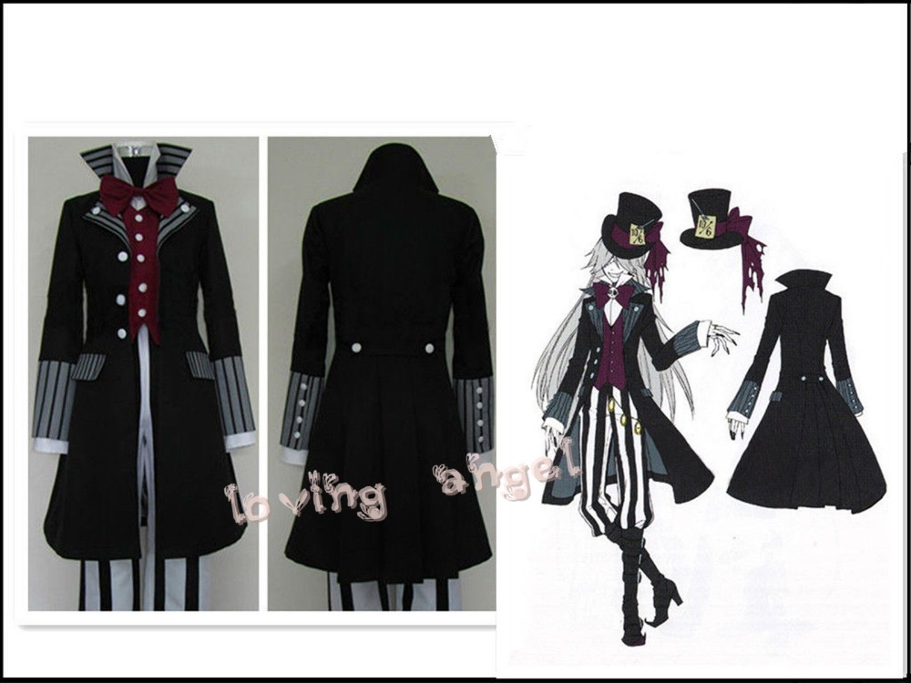 Black Butler Kuroshitsuji Undertaker Cosplay Party Costume Customized Size Free Shipping On Aliexpress