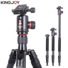 Buy KINGJOY Official K2208+QH20 Professional Carbon Fiber Camera Tripod Stand Monopod Dslr For Models Movil Flexible Stativ SLR DSLR directly from merchant!