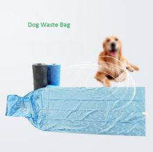5 Rolls Pet Poop Bags Dog Waste Bags Pet Dog Waste Poop Bag Paw Print Clean up Refills Bulk Roll Shit Picking Bags(China)