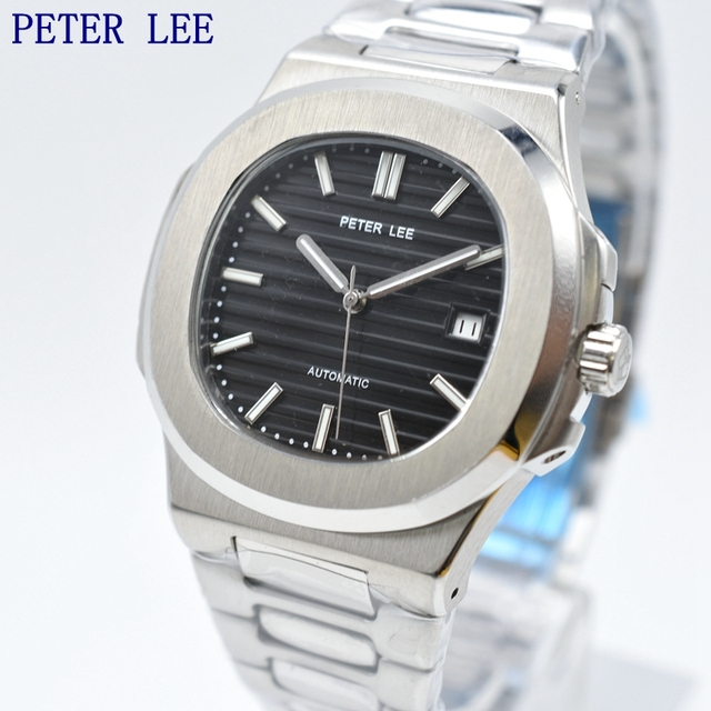 PETER LEE Classic Men Watches Brand Luxury Full Stainless steel Mechanical Watch