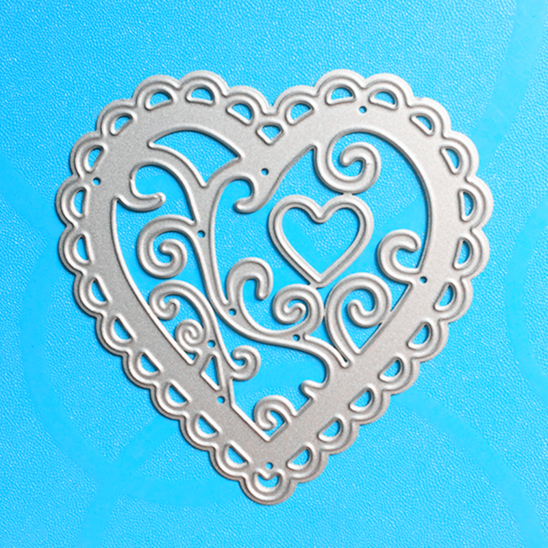 YLCD785 Love Circle Metal Cutting Dies För Scrapbooking Stencils DIY Album Pappers Kort Dekoration Prägling Folder Dysskärare