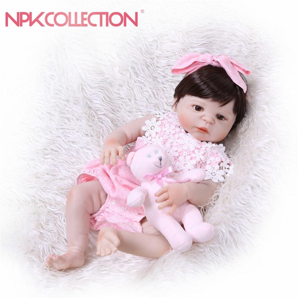 NPKCOLLECTION маленьких Кукла реборн полное тело куклы силиконовые виниловые очаровательны реалистичные одежда для малышей Bonecas девочек Bebe Кукла...