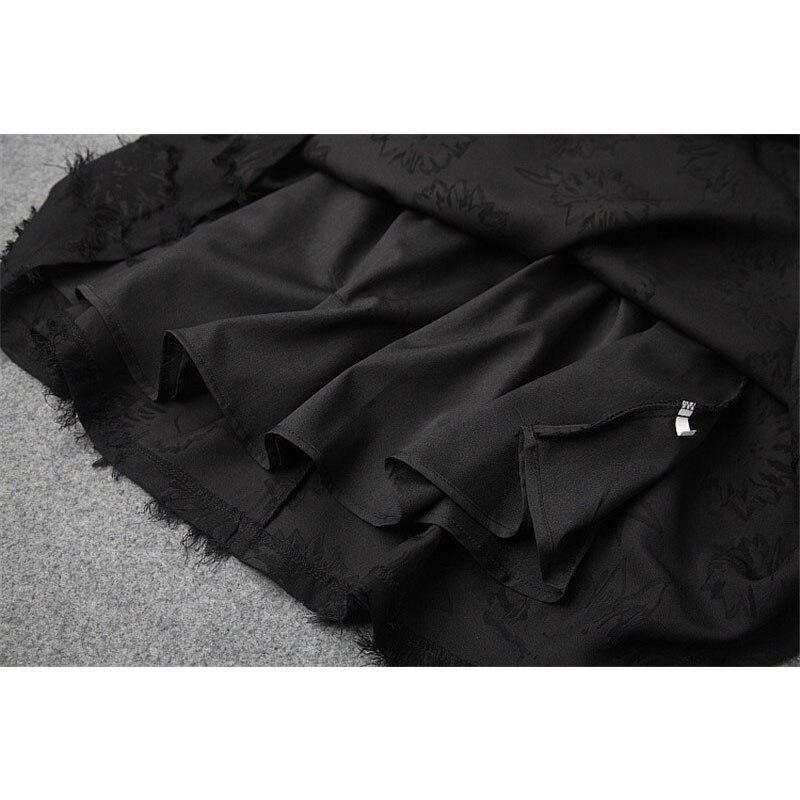 Gland Femmes 2018 Court Mode Marque Hiver Robes Manches Nouveau Noir Sexy De Designers Casual Longues Patchwork Automne Maille Fq4f1