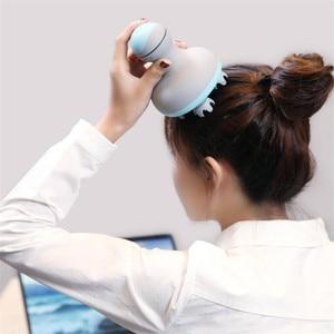 Image 2 - Youpin MINI head massager 3D stereo massage two way surround Four Wheel Rotation 6 kinds of massage manual massage instrument
