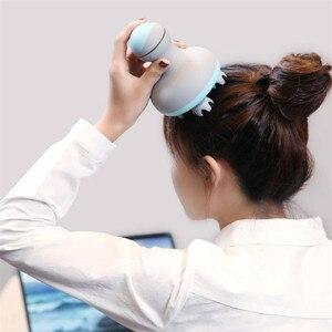 Image 2 - Youpin mini cabeça massager 3d estéreo massagem em dois sentidos surround quatro rodas rotação 6 tipos de massagem manual instrumento de massagem