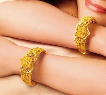 Beautiful Quality 24K Gold Filled Handmade in Hongkong Gold Shop