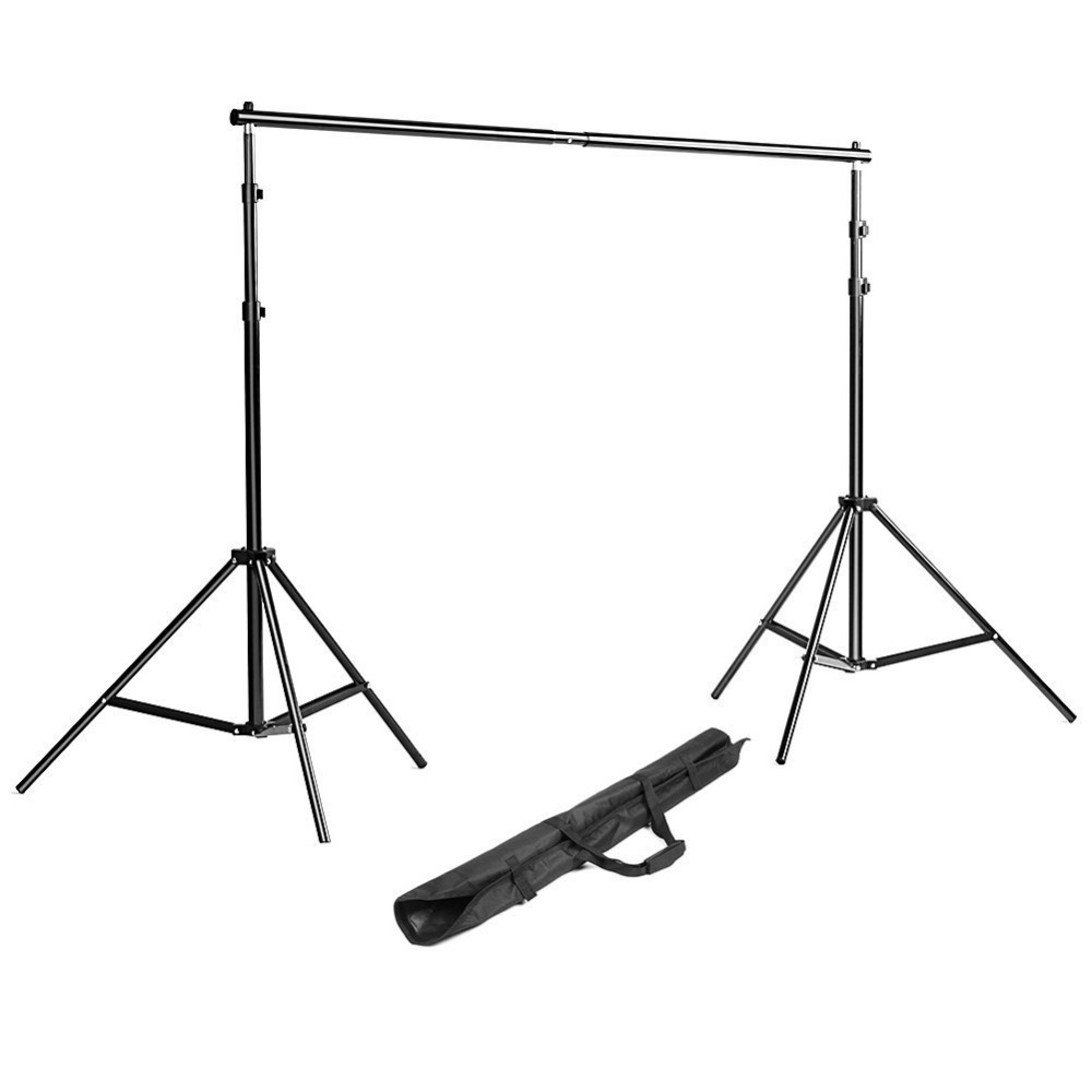 Neewer Background Stand Backdrop Support System Kit 7 Feet/200CM by 7 Feet/200 CM Wide with Portable Carrying Bag for Video new arrival background fundo house door with flowers 7 feet length with 5 feet width backgrounds lk 2684