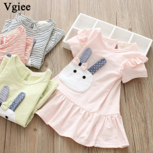 Vgiee Dress for Baby Girls Dresses 2019 Spring Summer Party Girls Dresses Animals for Rabbit Little Girls Clothing CC277