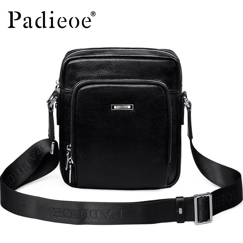 Luxury Genuine Cow Leather Men's Small Shoulder Bag Fashion Business Mini Messenger bag High Quality Durable Portable Handbag