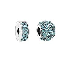 Gota brillante Beads Adapta Pandora Charms Bracelet DIY Elegancia Brillante Rebordea Para La Joyería 925 Joyería de Plata Esterlina
