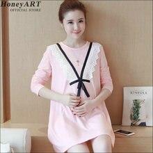 Autumn Dress With Long Sleeves For Maternity Women Longsleeved Maternity Dress  DD366z