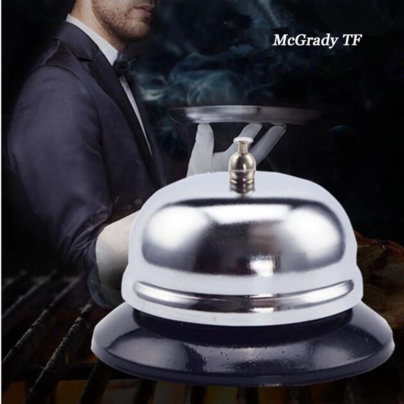 Mac New 8.5*5.5cm Stainless Steel Bar Bell Desk Kitchen Hotel Counter Reception Restaurant Bar Ringer Call Bell Service