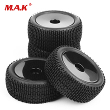 4 Pcs/Set 1:10 Scale Tires and Wheel Rims with 12mm Hex fit HSP HPI RC Off-Road Buggy Car Model Toys Accessories 4pcs set rc parts 12mm hex bead loc short course ruber tire rims for hpi hsp rc 1 10 traxxas slash