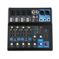 8 Channel DJ Mixer Audio Professional Power Mixing Amplifier digital mixer USB Slot 16DSP +48V Phantom Power US Plug