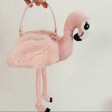 """Зимние Для женщин Творческий искусственный мех Фламинго сумка в форме для фотосессии для инструмент для девочек в стиле """"Лолита"""", комплект с принтом милой денег Кошелек для монет кошелек осанки сумка"""