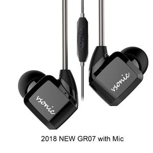 Image 1 - VSONIC HIFI หูฟังชนิดใส่ในหูหูฟังใหม่ GR07 GR07 I พร้อมไมโครโฟนแบบมีสาย IEM 2018