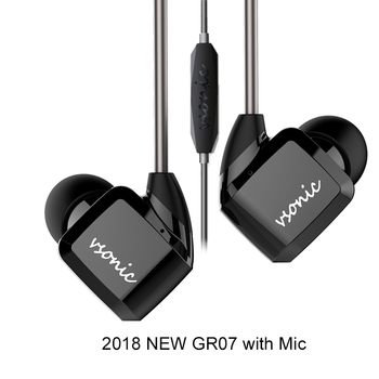 VSONIC HiFi In-ear Earbuds Earphone NEW GR07 GR07 i with Microphone Wired IEM 2018